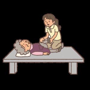 藤本鍼灸治療院の訪問鍼灸マッサージ治療画像